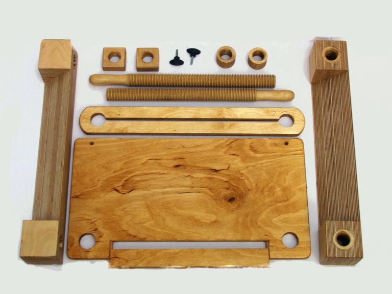 Einzelteile der Multibuchpresse